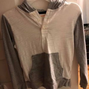 White and Grey Gymboree Hoodie for Boys